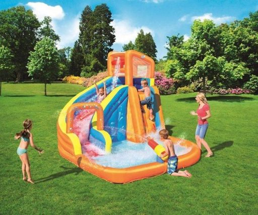 piscina infantil hinchable con tobogan